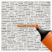 AGGRESSION. — Stock Vector