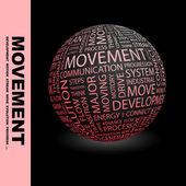 MOVEMENT. — Stock Vector