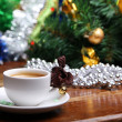 Royalty-Free Stock Photo: Christmas cup of coffee