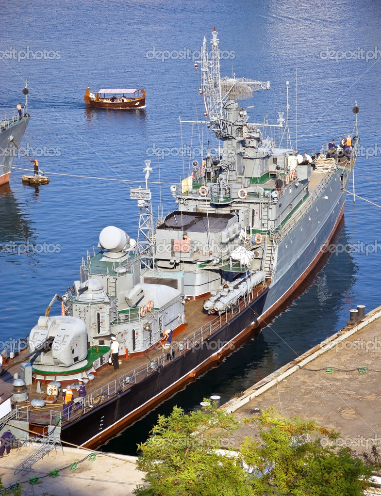 Picture of the Russian anti-sub-marin ship  Stock Photo #7695049