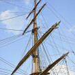 Old sailing boat rigging — Stock Photo #7920096