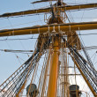 Stock Photo: Old sailing boat rigging