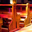 Stock Photo: Benches of church