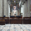 Interior of Milan cathedral — Stock Photo