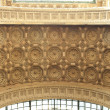 Ceiling, Central railway station, Milan — Stock Photo