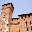 Royalty-Free Stock Photo: St. John of Nepomuk under the  Sforzesco castle in Milan