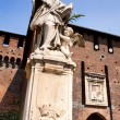 St. John of Nepomuk under the  Sforzesco castle in Milan — Stock Photo