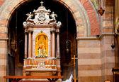 Interior of the Marian shrine, Barbano. Grado — Stock Photo