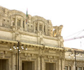 Stazione Centrale, Central railway station in Milan, Italy — Stock Photo