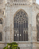 Windows of of Milan cathedral — Stock Photo