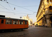 Tram in Milan — Stock Photo