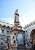 Monument dedicated to Leonardo da Vinci, Milan — Stock Photo