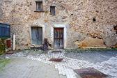 Old door of a poor house — Stock Photo