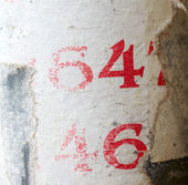 Numbers sixty-four and forty-six — Stock Photo