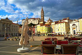 Giuseppe Tartini square, Piran — Stock Photo