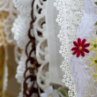 Cloth embroidered with flowers — Stockfoto #7673904
