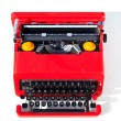 Stock Photo: Old red typewriter