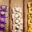 Lavander soaps and bath salts — Stock Photo