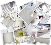 Wedding photos collage — Stock Photo