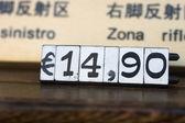 Euro price — Stock Photo