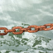 Chain on sea — Foto de stock #7686111