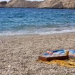 Chess game on Petani beach — Stockfoto #7687378