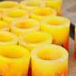 Stock Photo: Yellow candles