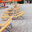 Deck chairs beach — Stock Photo