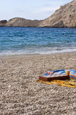 Chess game on the Petani beach — Stock Photo