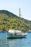 Boot op zee — Stockfoto