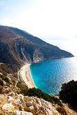 Beach in the mountains — Stock Photo