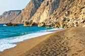 Fotspår på stranden — Stockfoto