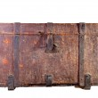 Antique wooden trunk — Stock Photo