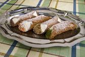 Cannoli di ricotta, Sicilian Pastry — Stock Photo