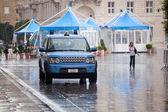 Italian police car under the rain — Stock Photo