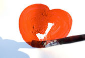 Painting a heart — Stock Photo