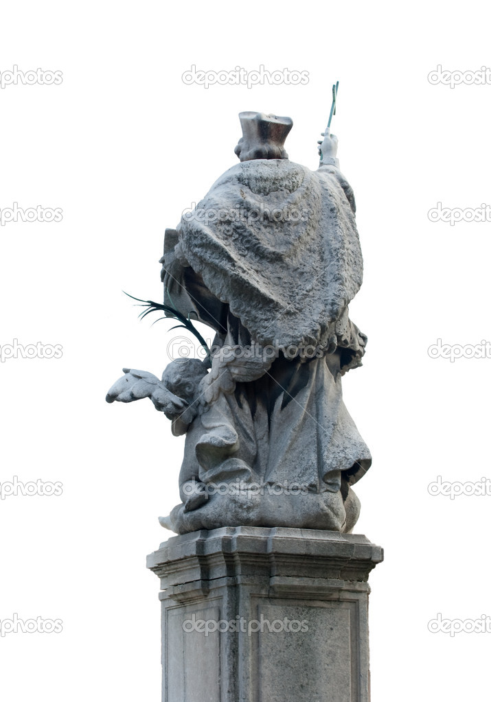 St. John of Nepomuk, Milan, back of a statue  Stock Photo #7738380