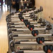 Airport carts — Stockfoto