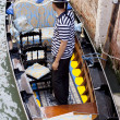 Gondolier, Venice — Stock Photo #7746160