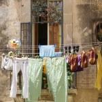 Drying laundry — Stock Photo #7747153