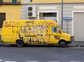 Yellow van — Stock Photo