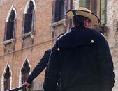 Gondolier, Venice — Stock Photo