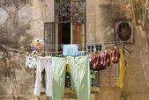 干燥洗衣 — 图库照片
