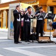 Concert in the street of Violinists — Stock Photo