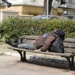 Homeless sleeping - Stock Photo