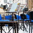 Chairs for musicians — Stock Photo