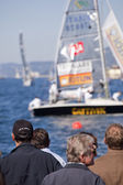 Espectadores en una regata — Foto de Stock