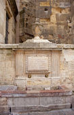 Old Renaissance fountain in Leon — Stockfoto