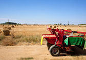 Tractor in the countryside — Stock Photo