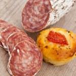 Rustic italian bread — Stock Photo